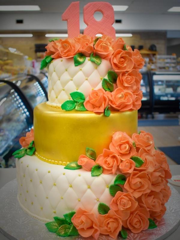 Royal 18th birthday cake by Goodies Bake Shop